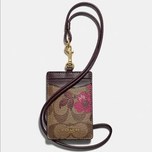 COACH Id Lanyard Signature Canvas Victorian Floral